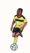 Player Drawings - Abedi Pele by Emmanuel Baliyanga