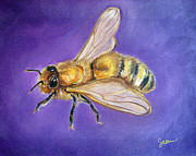 Bee Metal Prints - Abeja Metal Print by Sabina Espinet
