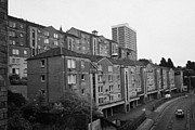 80s Prints - Aberdeen Various Blocks Of Flats Apartments Over What Was The Fittie Port And Castle Terrace Gate Sc Print by Joe Fox