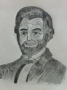 President Lincoln Drawings - Abharam Lincoln by Monika