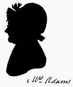 Silhouette Painting Posters - Abigail Adams Poster by The Granger Collection