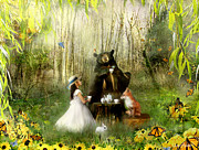 Tea Party Acrylic Prints - Abigails Friends Acrylic Print by Carrie Jackson