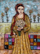 Folk Art Paintings - Abilene by Rain Ririn