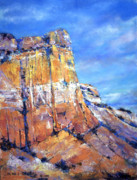 Abiquiu Paintings - Abiquiu Blue by James Roybal