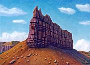 Red Rock Paintings - Abiquiu by Brian  Commerford