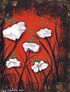 Roses Poppies Paintings - Abiy by  Abril Andrade Griffith