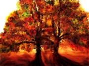 Anke Wheeler Paintings - Ablaze  by Anke Wheeler