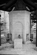 Ammochostos Posters - Ablution Fountains Outside The Lala Mustafa Pasha Mosque In Famagust Poster by Joe Fox