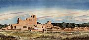 New Mexico Prints - Abo Mission Print by Sam Sidders