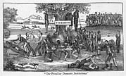 Lynching Framed Prints - Abolitionist Cartoon Entitled, Our Framed Print by Everett