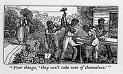 Anti-slavery Framed Prints - Abolitionist Cartoon Satirizing Slave Framed Print by Everett
