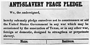 Abolition Posters - Abolitionist Peace Pledge Poster by Granger