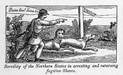 Slaves Metal Prints - Abolitionist Political Cartoon Metal Print by Everett