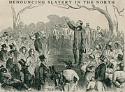 Fugitive Slave Act Prints - Abolitionist Wendell Phillips Speaking Print by Everett
