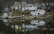 Boat House Row Framed Prints - Above and Below Framed Print by Luke Moore