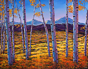 Aspen Trees Paintings - Above it All by Johnathan Harris