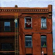 Brick Paintings - Above it All by Linda Apple