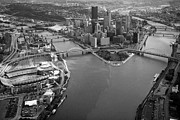 Pnc Framed Prints - Above Pittsburgh  Framed Print by Emmanuel Panagiotakis