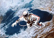 Self-portrait Photos - Above The Black Sea By Leonov by Ria Novosti