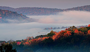 Fog Mist Prints - Above the Clouds - Vermonts Green Mountains Print by Thomas Schoeller