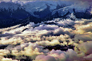 Denali Prints - Above The Clouds Print by Rick Berk