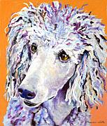 Dogs Pastels Framed Prints - Above The Standard   Framed Print by Pat Saunders-White