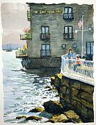 Sausalito Paintings - Above Tide Hotel by John West
