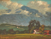 Berkshire Hills Paintings - Above Toporowski Farm by Len Stomski