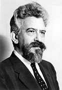 Author Metal Prints - Abraham J. Heschel, Philosopher Metal Print by Everett