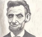 President Lincoln Drawings - Abraham by Jim Valentine