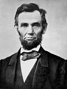 Black And White Portraits Prints - Abraham Lincoln -  portrait Print by International  Images