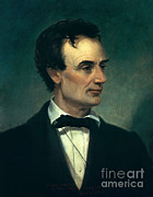 Abolition Prints - Abraham Lincoln, 16th American President Print by Photo Researchers, Inc.