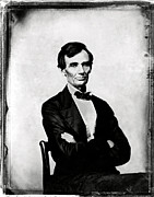 Abolition Metal Prints - Abraham Lincoln, 16th American President Metal Print by Photo Researchers