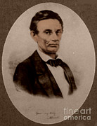 15th Amendment Prints - Abraham Lincoln, 16th American President Print by Science Source