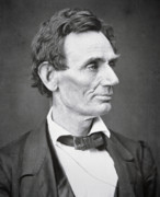 B W Photos - Abraham Lincoln by Alexander Hesler
