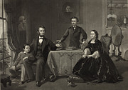 Abraham Lincoln Framed Prints - Abraham Lincoln and family Framed Print by International  Images