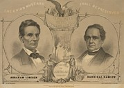 Us Election Posters - Abraham Lincoln And Hannibal Hamlin Poster by Everett