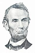 President Lincoln Framed Prints - Abraham Lincoln Framed Print by David Houston