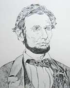 John Keaton Drawings - Abraham Lincoln by John Keaton