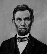 Civil Pastels Framed Prints - Abraham Lincoln Framed Print by Johnny Bone