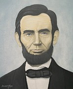 The President Of The United States Paintings - Abraham Lincoln by Mark Barnett