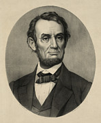 Abraham Lincoln Prints - Abraham Lincoln portrait Print by International  Images