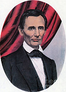 Abolition Posters - Abraham Lincoln, Republican Candidate Poster by Photo Researchers