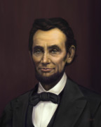 Sue Brehant Framed Prints - Abraham Lincoln Framed Print by Sue  Brehant