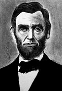 President Lincoln Drawings - Abraham Lincoln by Sujith Puthran