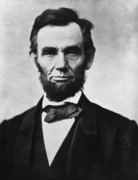 Lincoln Metal Prints - Abraham Lincoln Metal Print by War Is Hell Store