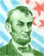 Human Rights Leader Prints - Abraham Lincoln  Print by Yoshiko Mishina