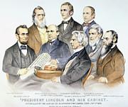 Abraham Lincolns Cabinet Print by Granger