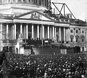 Crowd Scene Posters - Abraham Lincolns first inauguration - March 4 1861 Poster by International  Images