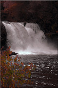 Coal Prints - Abrams Falls in Autumn Print by DigiArt Diaries by Vicky Browning